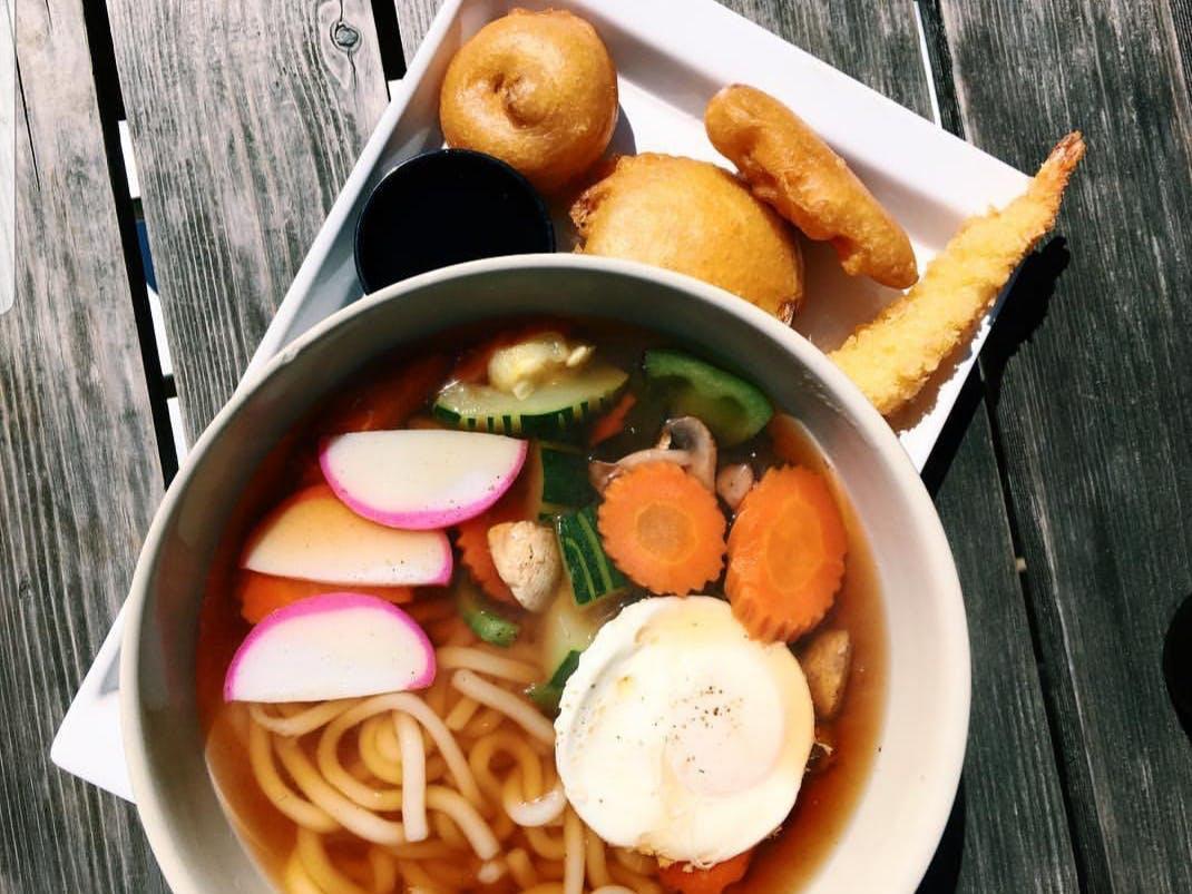 a ramen bowl