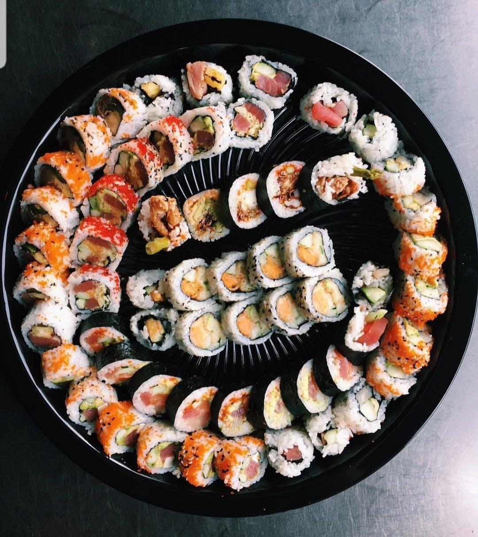 a sushi tray