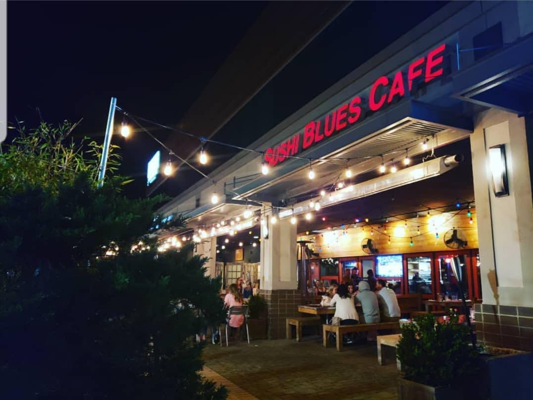 sushi blues cafe building