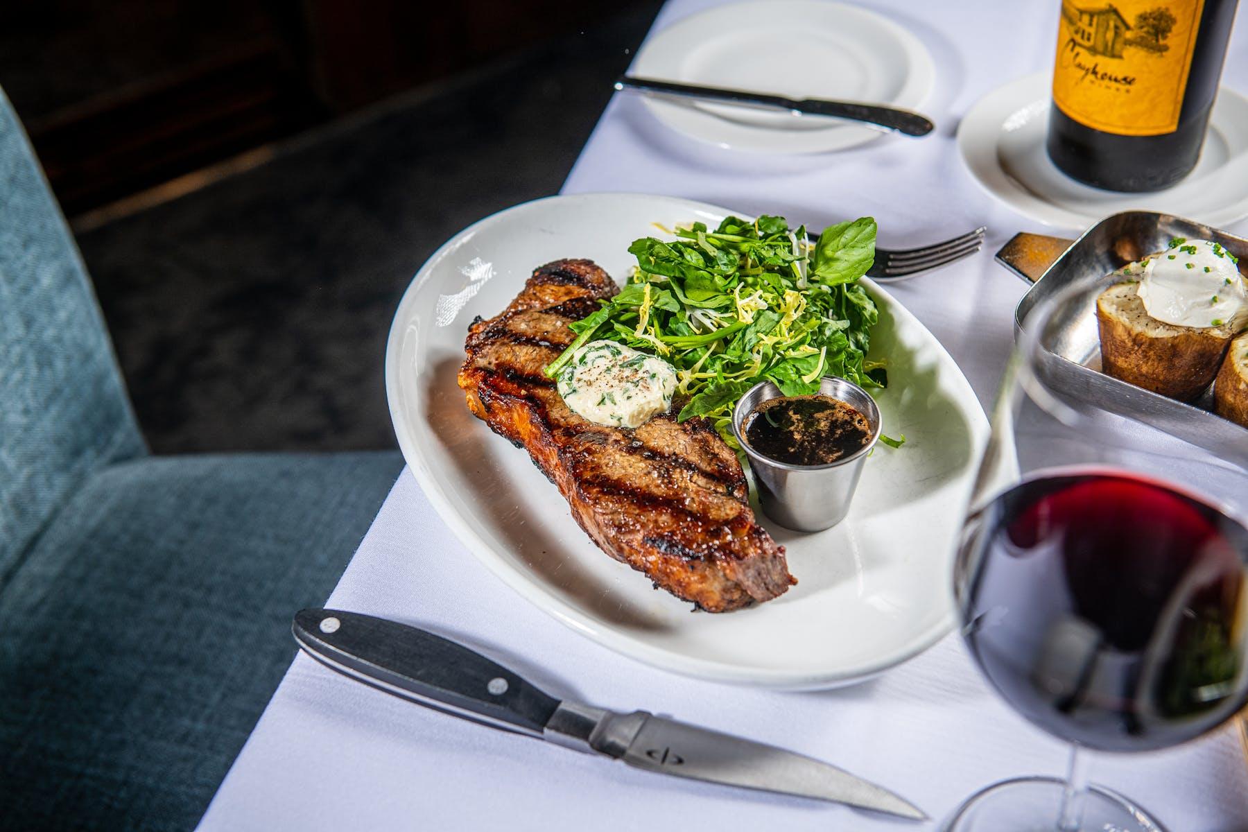 steak on a table