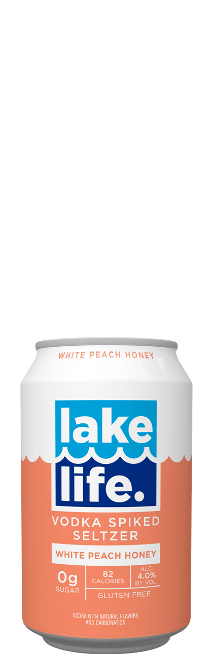 Lake Life White Peach Honey Seltzer