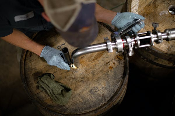 Filling a barrel