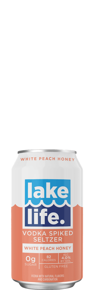 Lake Life White Peach Honey Seltzer