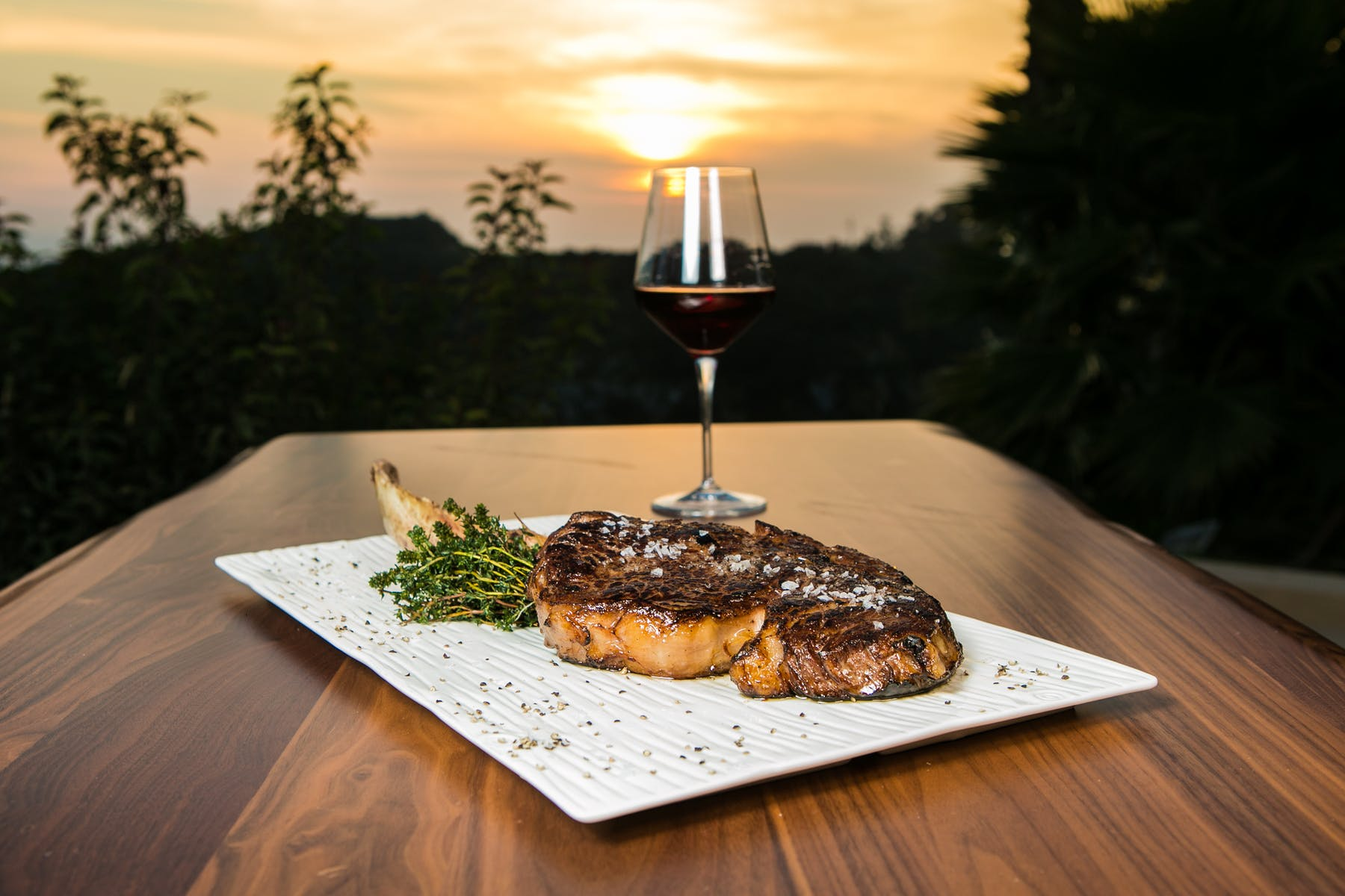 steak with view