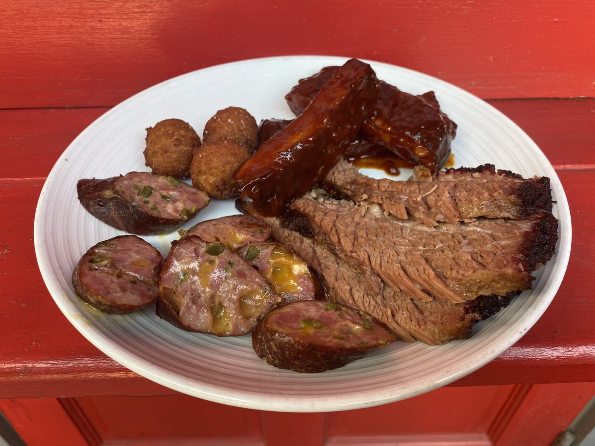 BBQ meat on a plate
