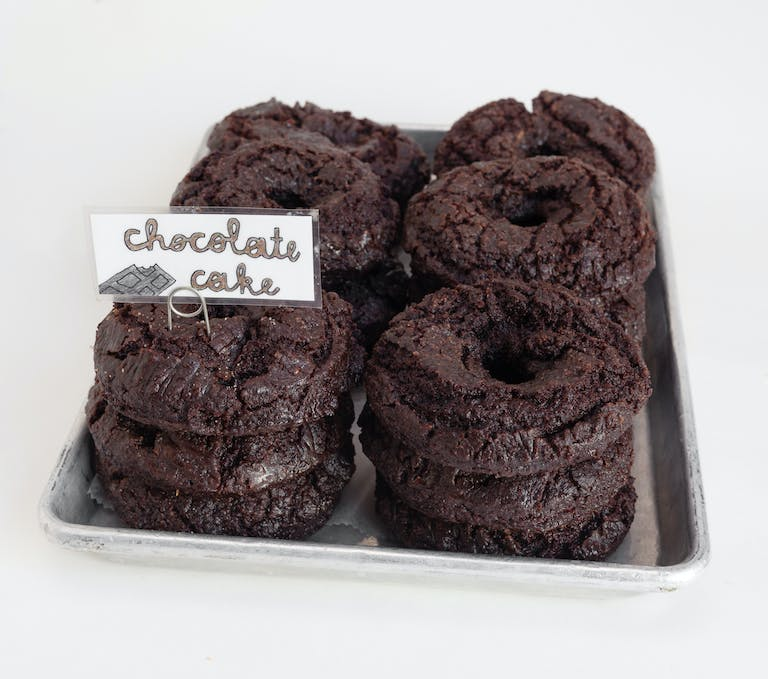 Chocolate cake donut