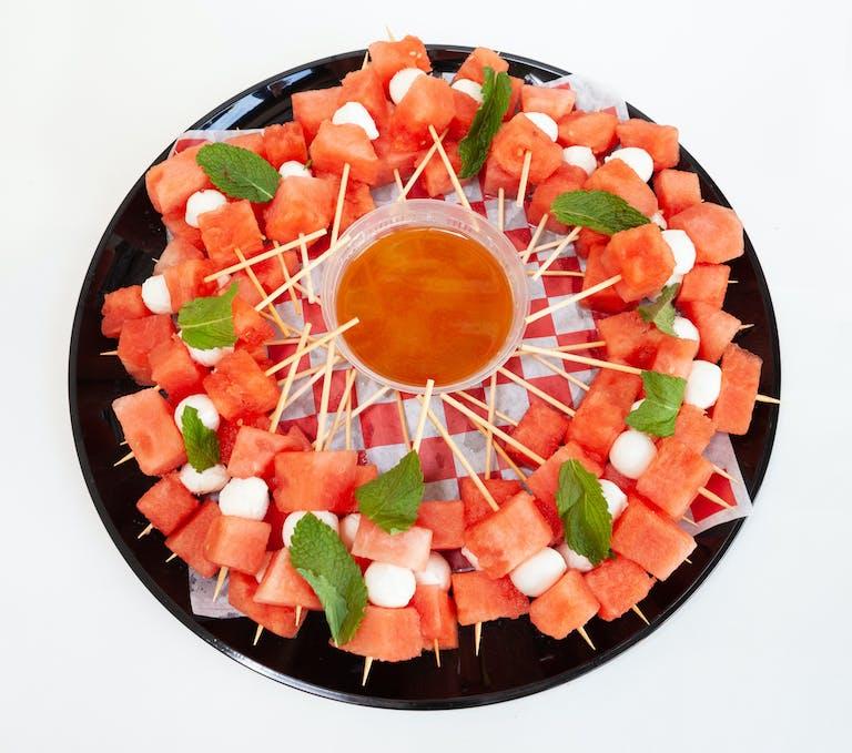 Watermelon mozzarella skewers