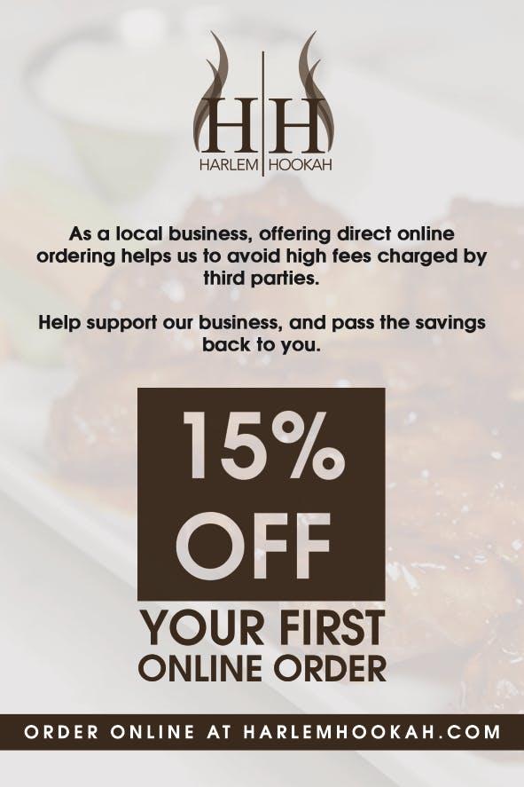 15% off first online order