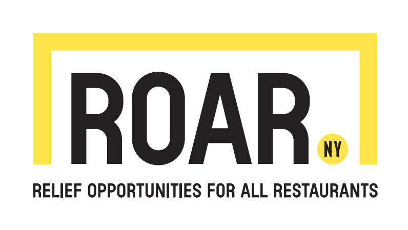 yellow and black logo for roar