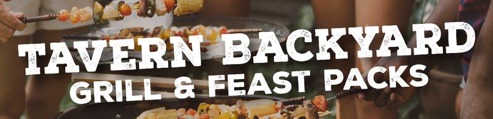 a backyard grilling scene for Tavern Backyard Grill & Feast Packs