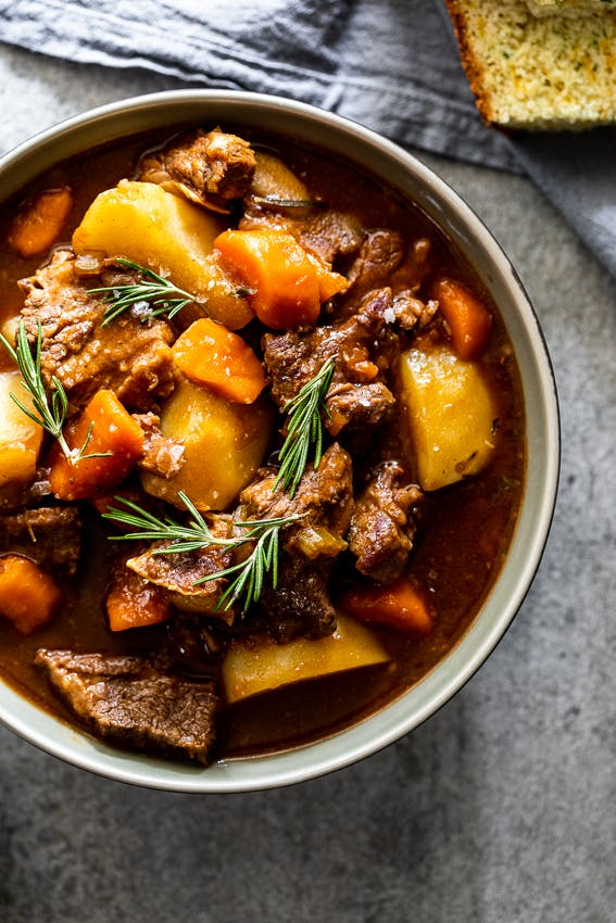 a bowl of food with stew