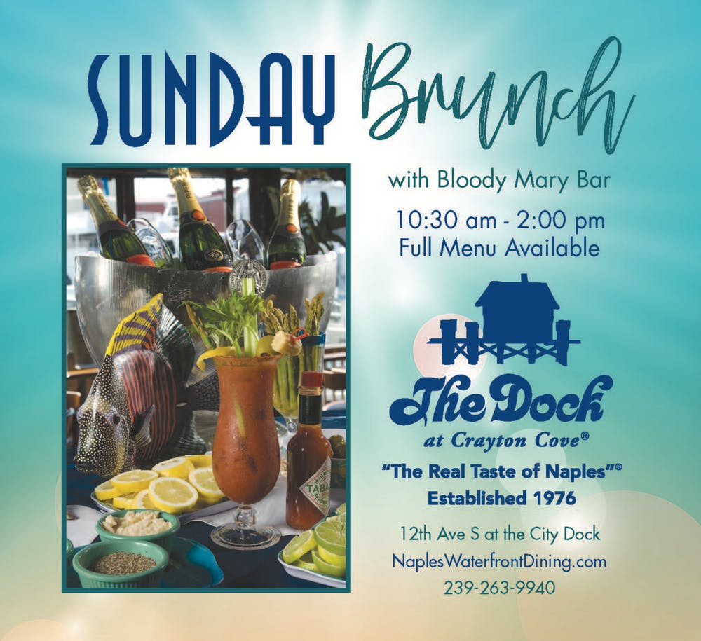 an advertisement of the sunday brunch event