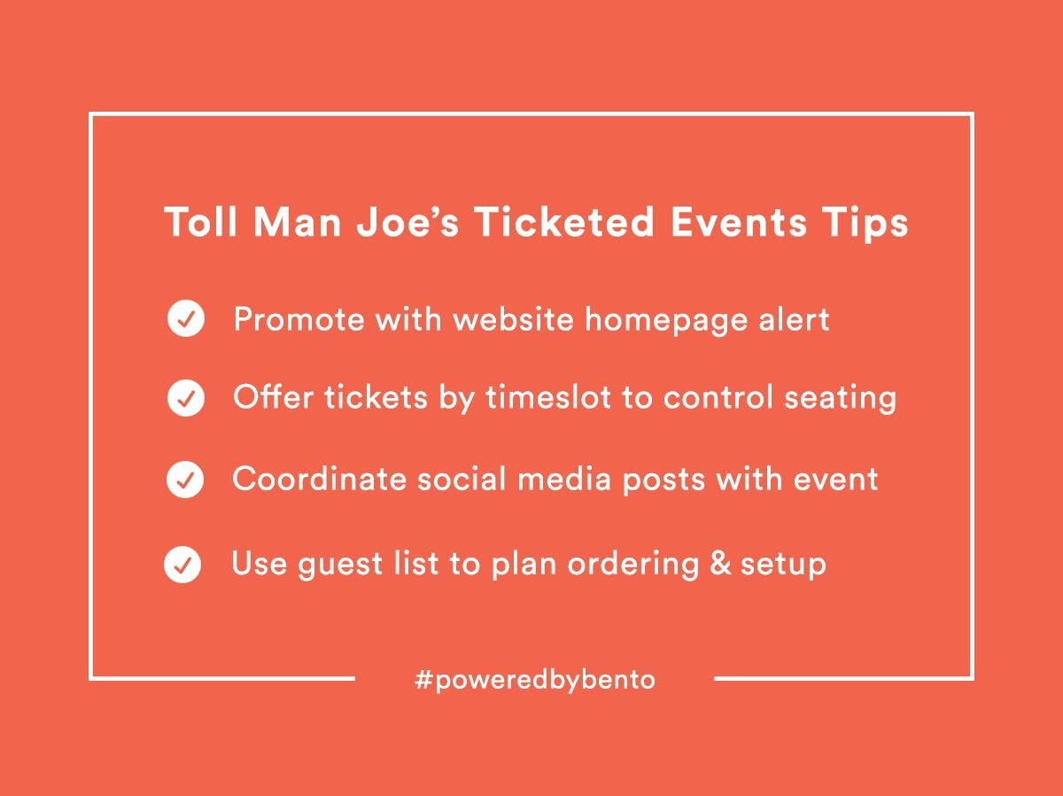 List of ticketed event tips