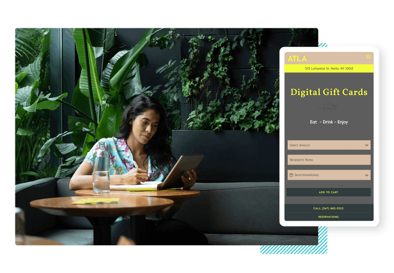digital gift card purchase interface