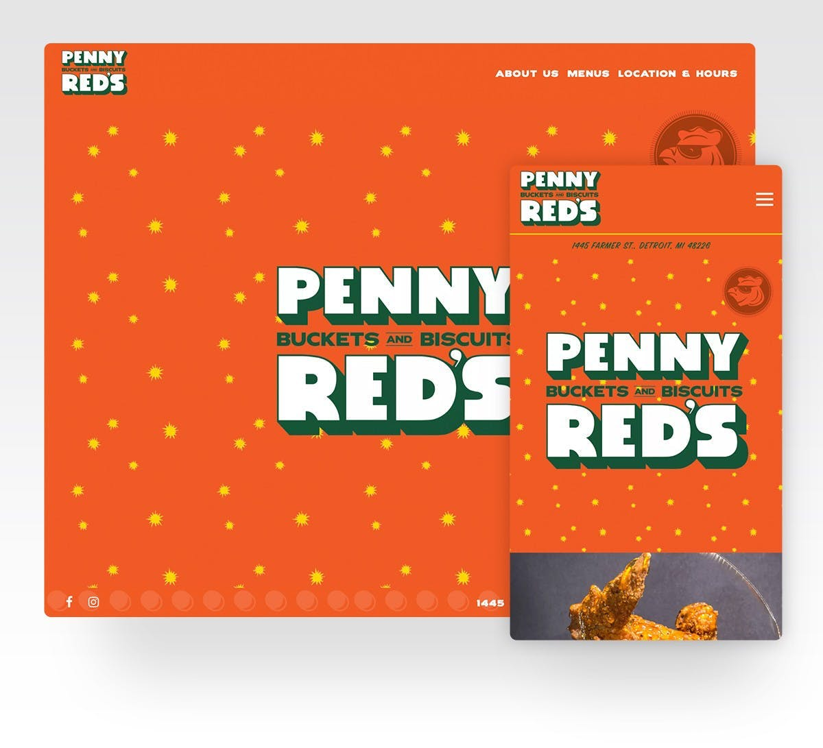 Screenshot of Penny Red's website