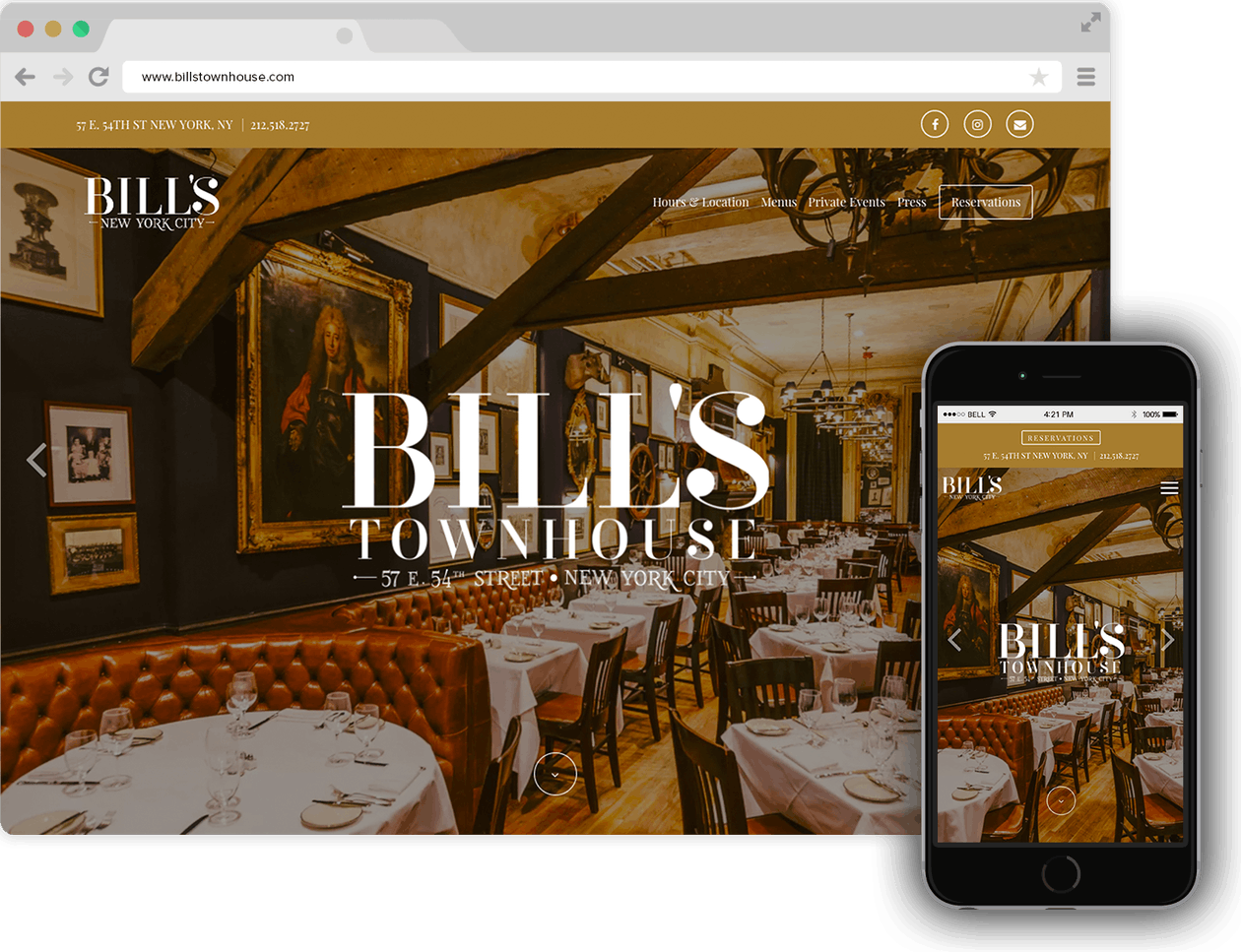 Bill's Town House homepage