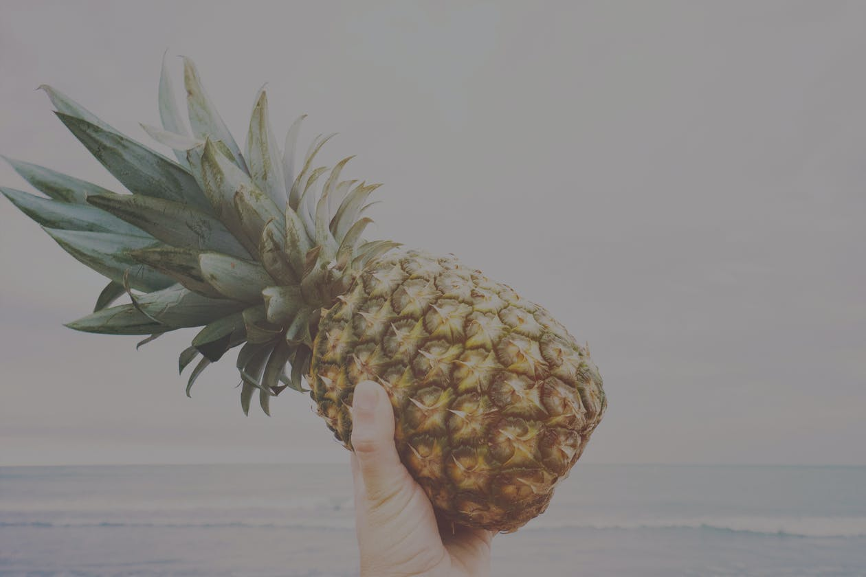 The pineapple, pictured here, is a symbol for hospitality.