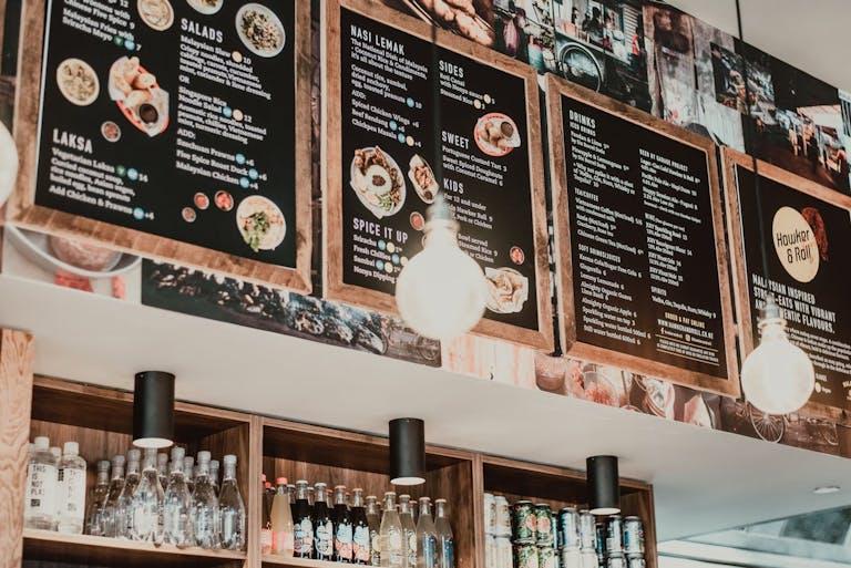 a restaurant menu