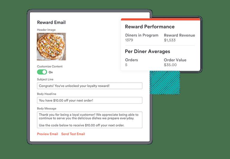 repeat rewards email marketing for restaurants - loyalty program
