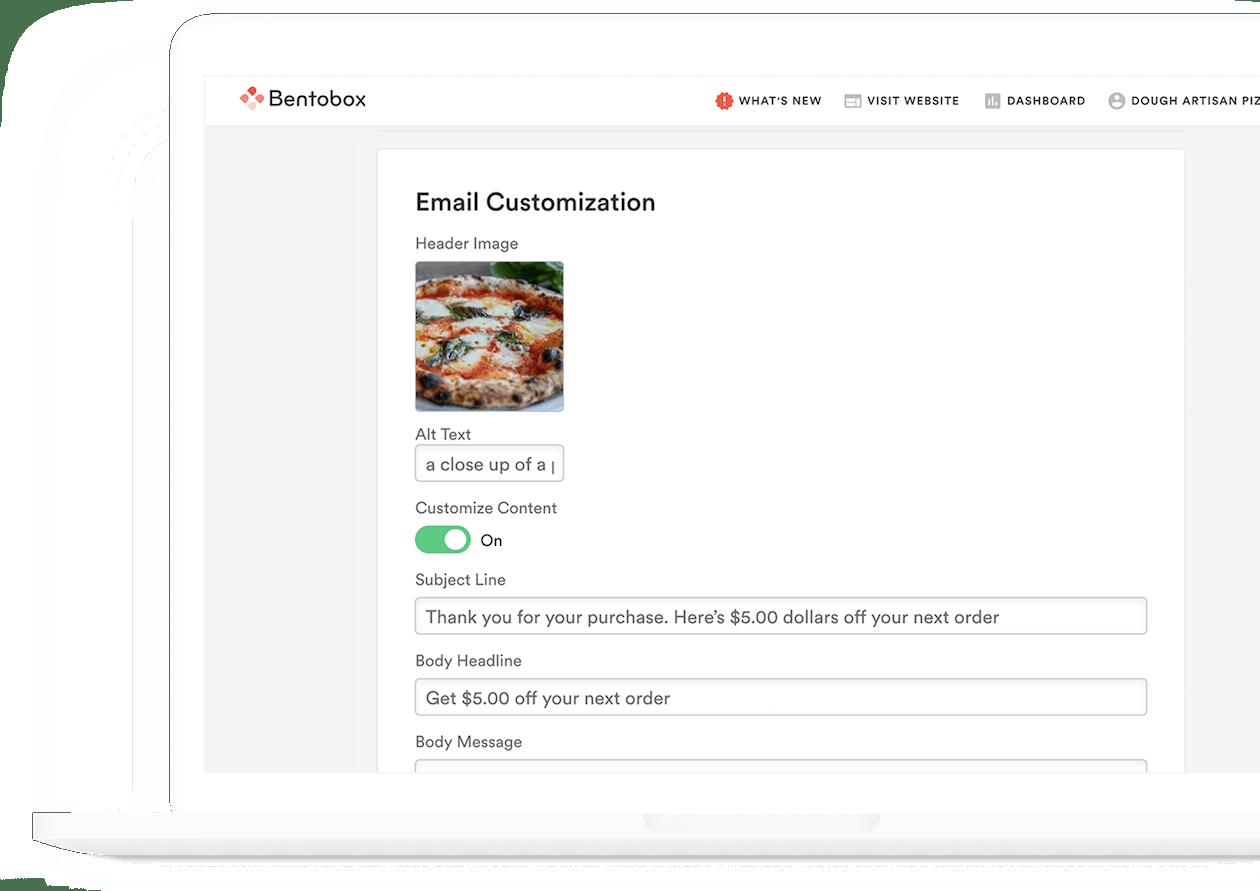 dough artisan pizza ed simmons bentobox testimonial email marketing automation