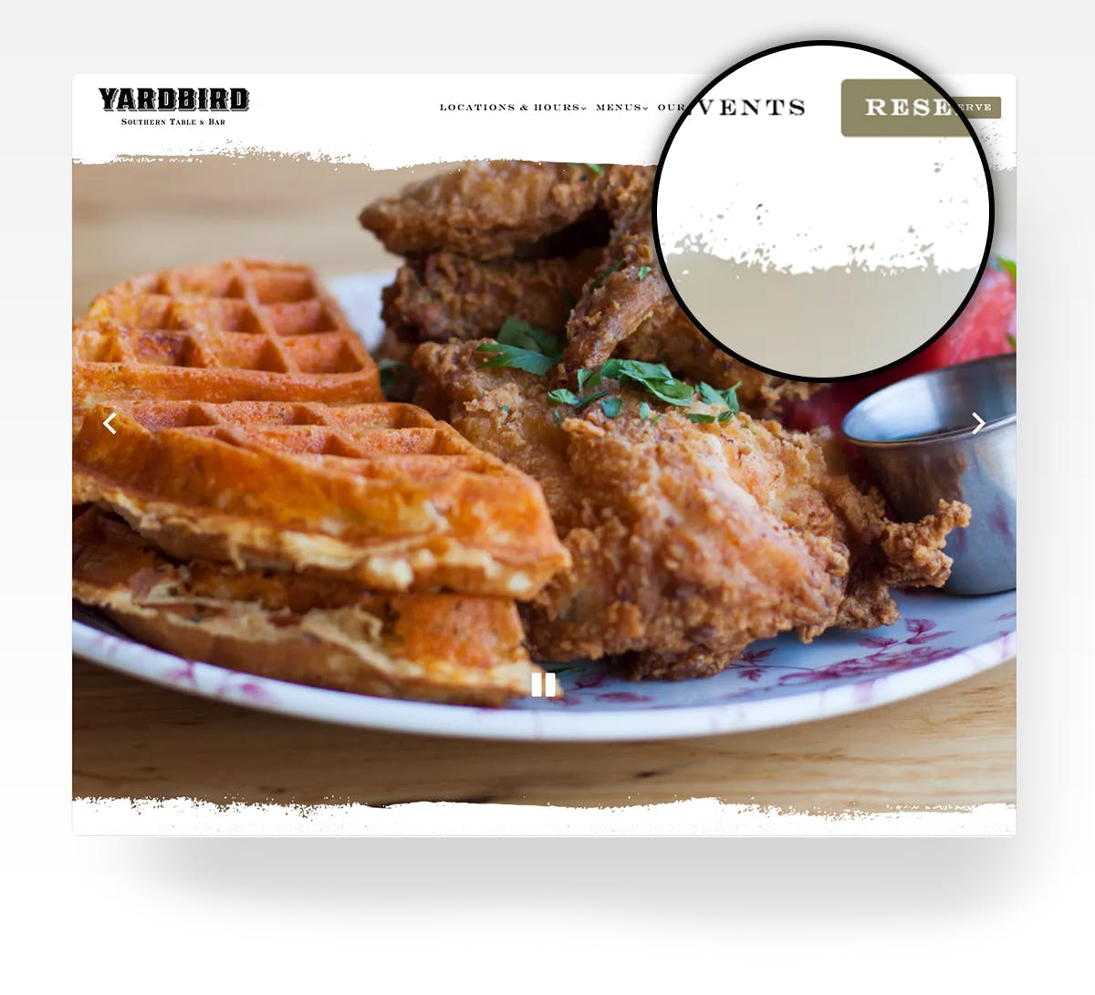 A picture of a plate of food from Yardbird.