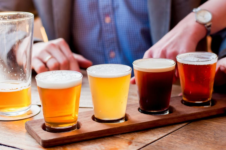craft beer on a table