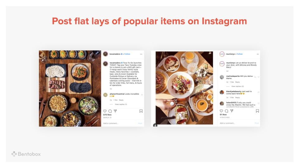 post flat-lays of popular food items on Instagram