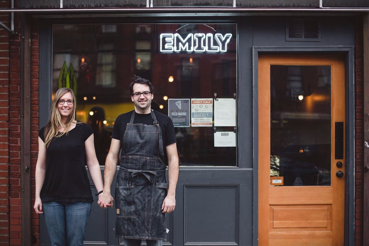 Matt and Emily Hyland, chef/owners of EMILY