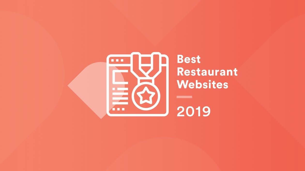 graphic that says best restaurant websites 2019