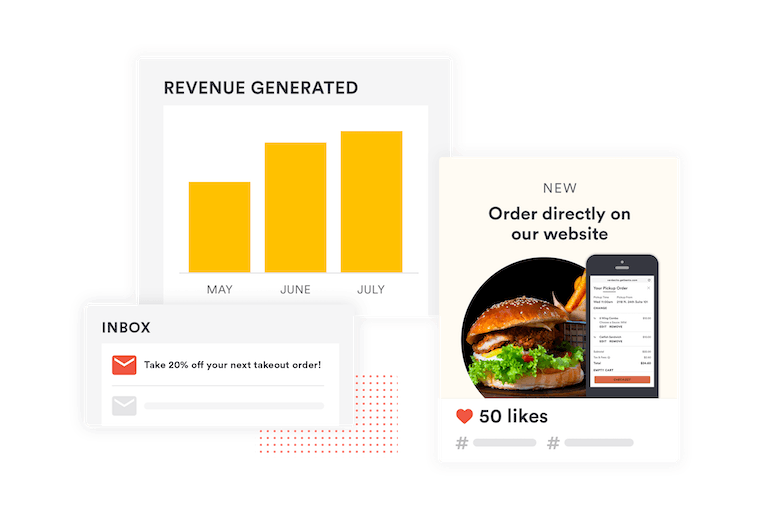 bento ordering social media and email promotions complimentary marketing support