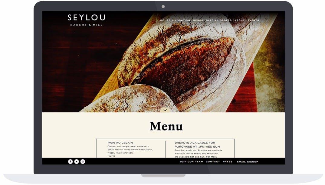 a screenshot of menu page