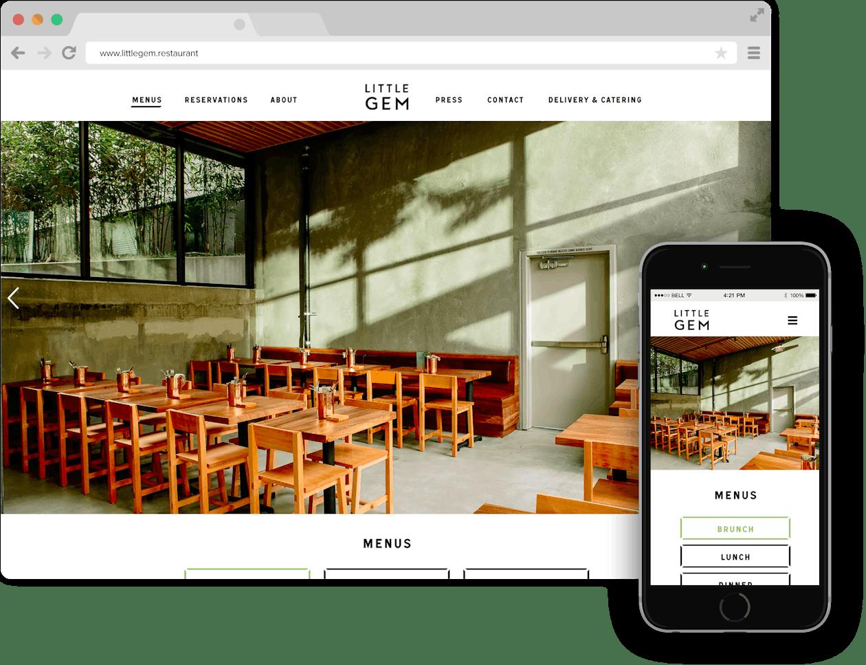 a screenshot of Little Gem website