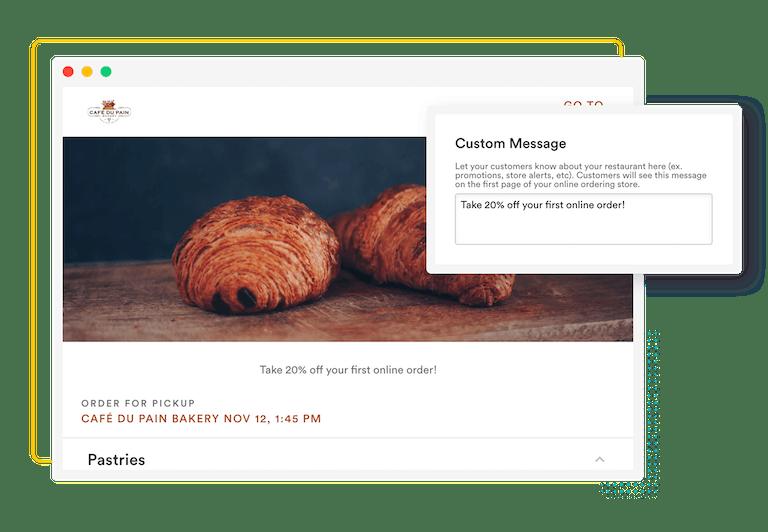 composition of BentoBox online ordering features