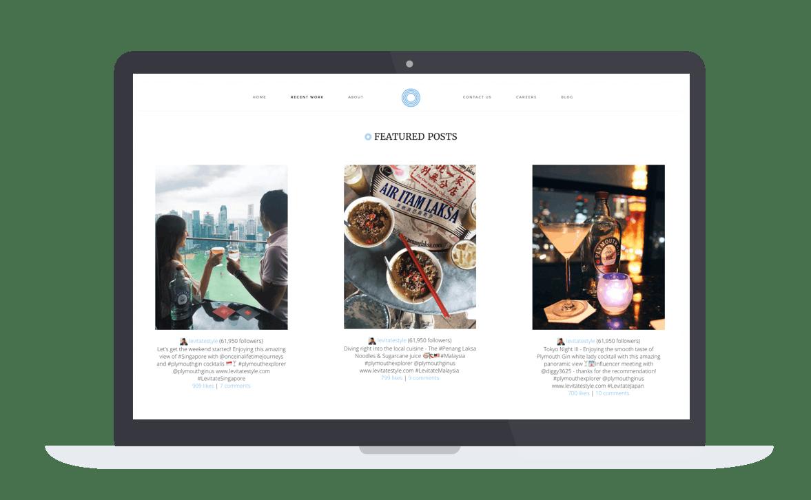 a screenshot of a restaurant website on a computer screen
