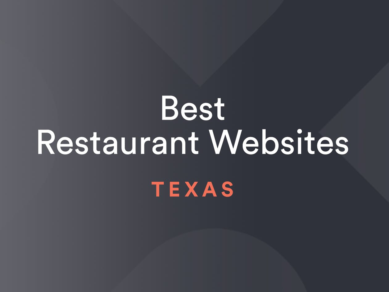 Best Restaurant Websites Texas Graphic