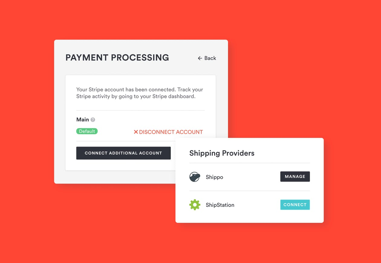 screenshots of BentoBox payment processing features