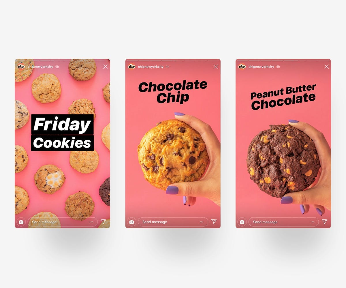 Chip (@ChipNYC) uses their Stories to announce their daily specials that change throughout the week.