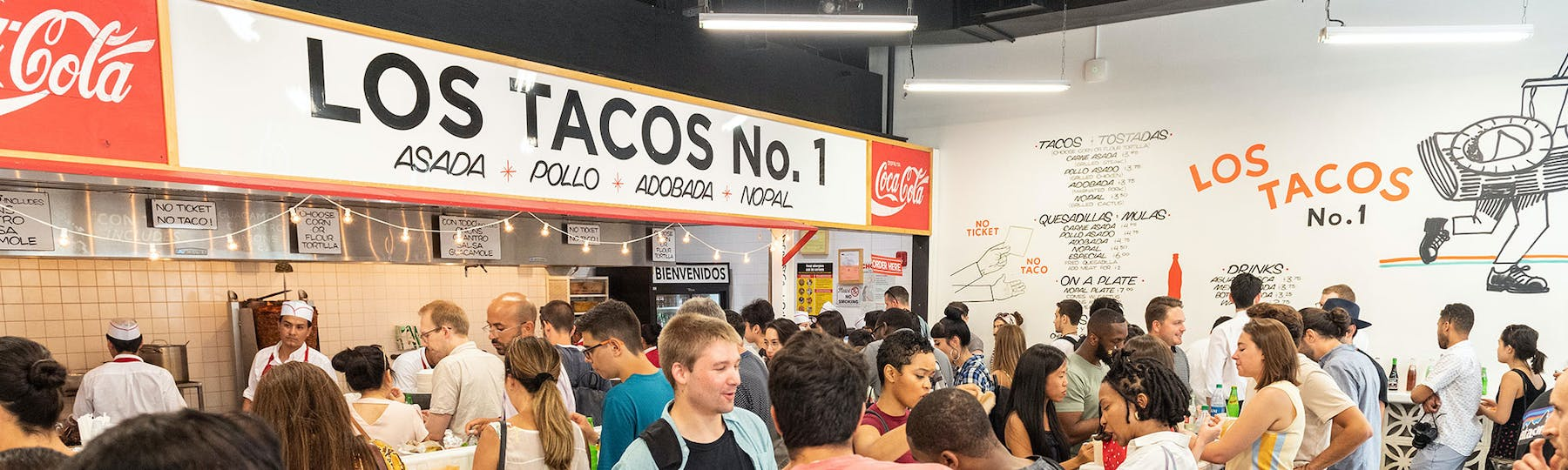 interior shot of Los Tacos No. 1