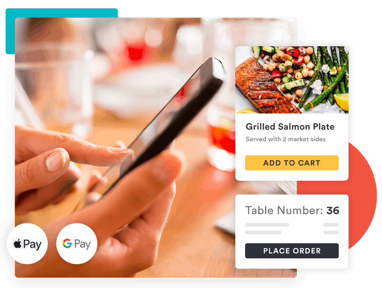 contactless dine-in ordering - paperless payment and tableside ordering with apple pay