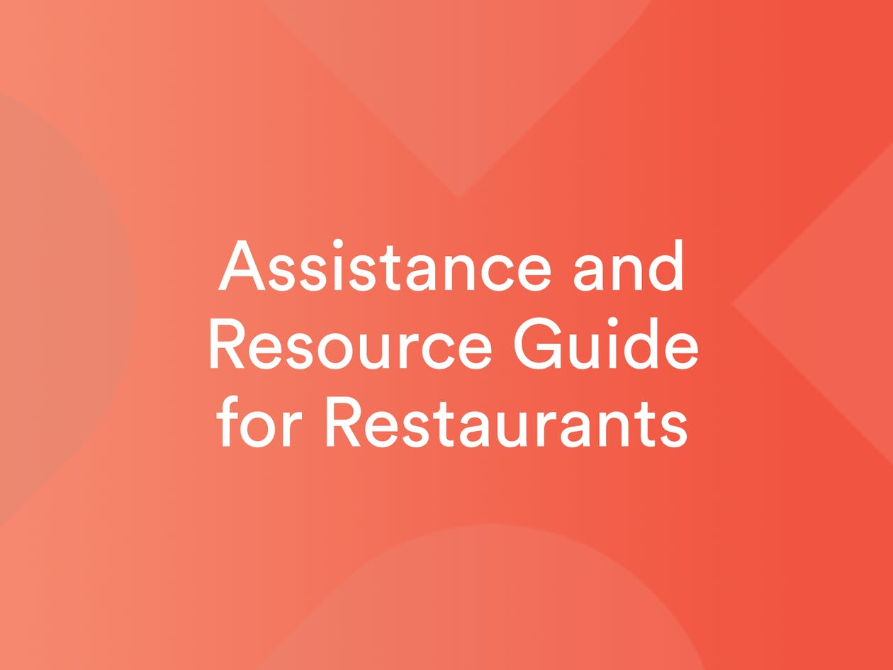 Assistance and Resource Guide for Restaurants