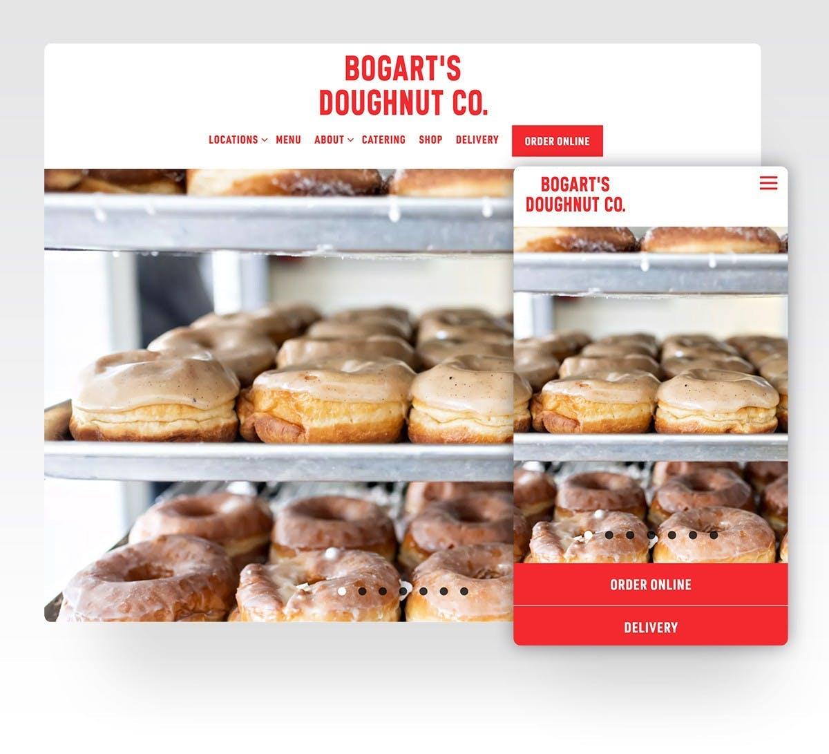 Bogart's Doughnuts website screenshot