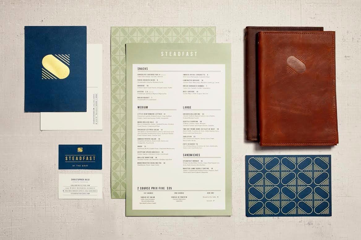 a close up of restaurant menus