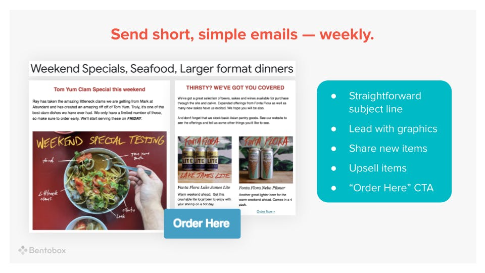 A graphic with examples and tips on sending effective emails