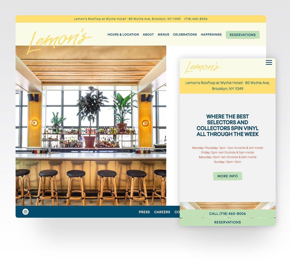 a screenshot of Lemon's website
