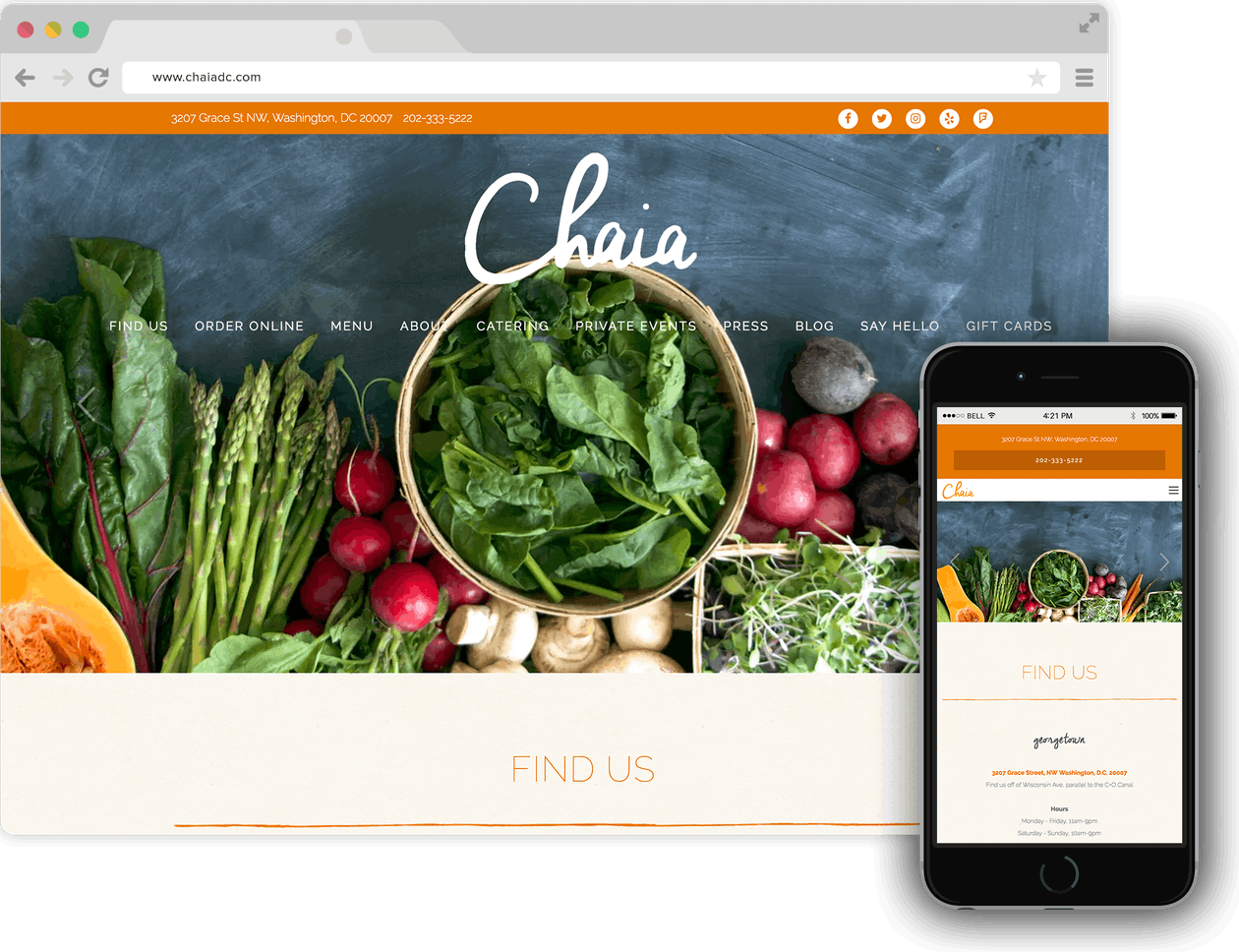Chaia website