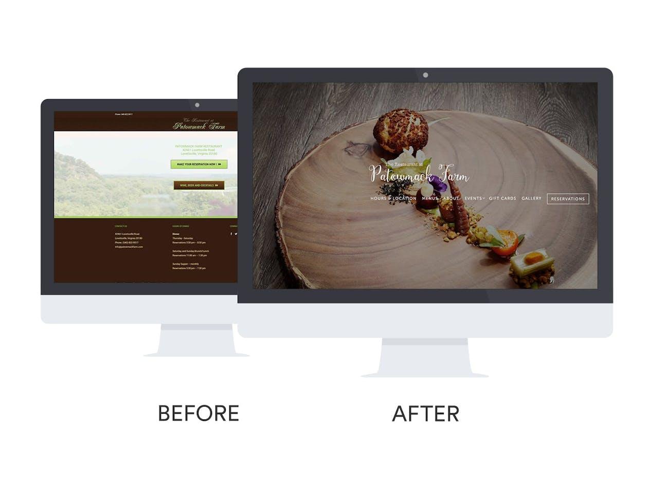The Restaurant at Patowmack Farm Website