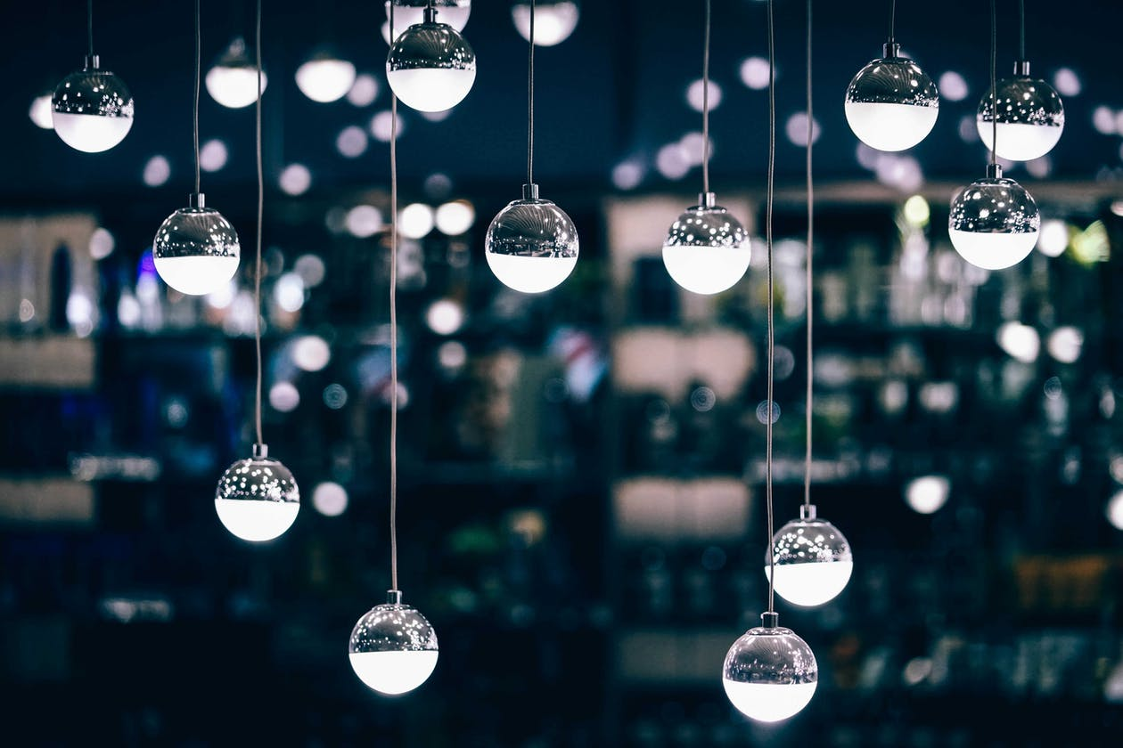 A picture of decorations hanging.