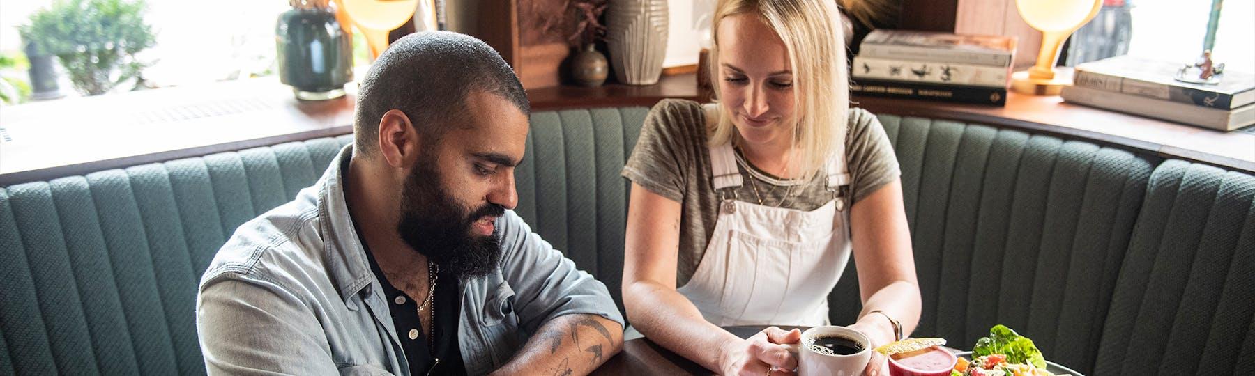 Customer working with BentoBox team member