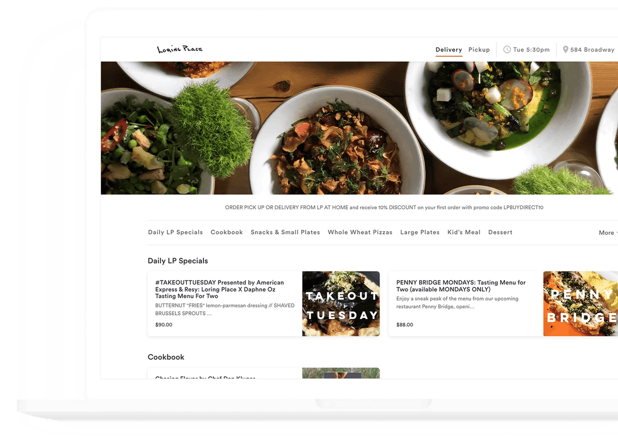 loring place order online - powered by bentobox