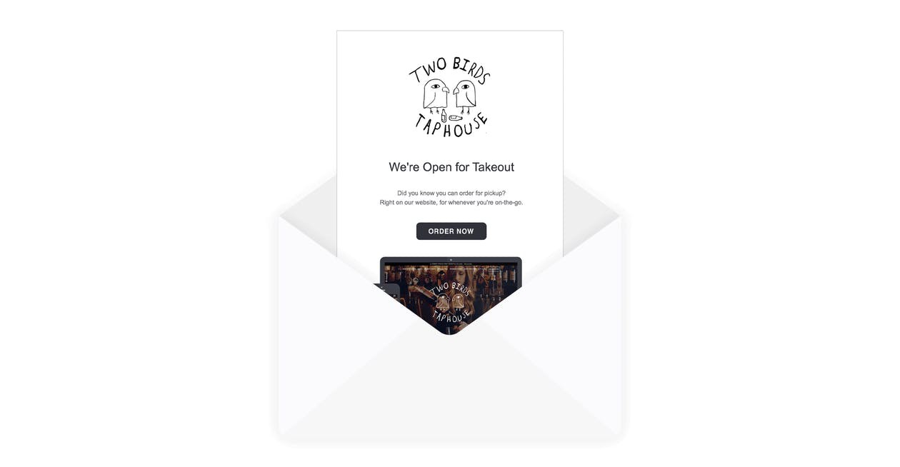 An example of an email newsletter.